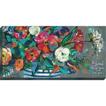 Canvas Wall Art: The Lord Bless You and Keep You, Floral Bouquet