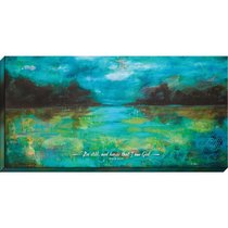 Canvas Wall Art: Be Still and Know That I Am God...Lake Scene
