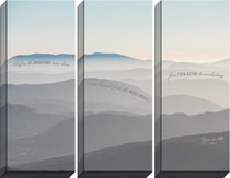 Canvas Wall Art: You Are God , Sand Dunes (Set Of 3)