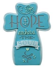 Ceramic Cross: Hope, Blue
