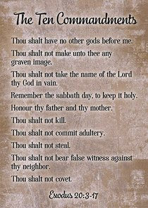 Poster Large: Ten Commandments