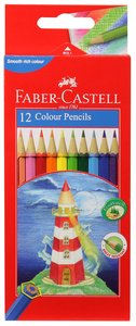 Faber-Castell Full Length Hex Colour Pencils Set of 12