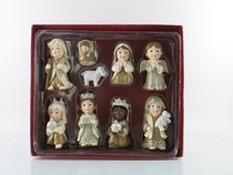 Resin Childrens Nativity (Set Of 9)