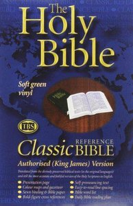 KJV Classic Reference Holy Bible Authorised Black Text Green Paperback