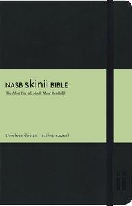 NASB Skinii Black Elastic Closure Bible (Red Letter Edition)