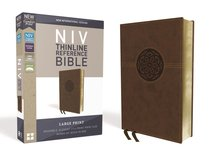 NIV Thinline Reference Bible Large Print Brown (Red Letter Edition)