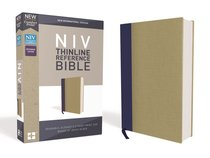 NIV Thinline Reference Bible Blue/Tan (Red Letter Edition)
