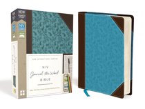 NIV Journal the Word Bible Brown/Blue (Red Letter Edition)