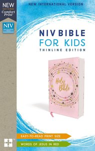 NIV Bible For Kids Thinline Pink/Gold (Red Letter Edition)