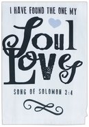 Love Collection Cotton Tea Towel: Found the One, Cream/Black/Pink Heart (Song Of Solomon 3:4)