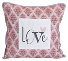 Love Collection Pillow: Love, Pink/White/Black