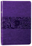 TPT New Testament Large Print Violet With Psalms Proverbs and Song of Songs