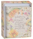 Gracelaced Boxed Cards: Whatever is True, Yellow/Country Floral