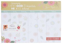 Joyce Meyer Weekly Planner: Love God, White/Yellow/Green Floral