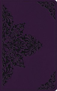 ESV Large Print Value Thinline Bible Lavender Filigree Design (Black Letter Edition)