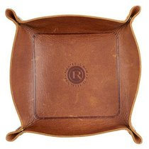 Trinket Tray: Genuine Full Grain Brown Leather, Righteous Man