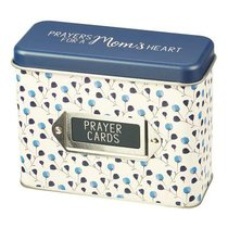 Prayer Cards in Tin Box: Prayers For a Moms Heart, Blue Floral