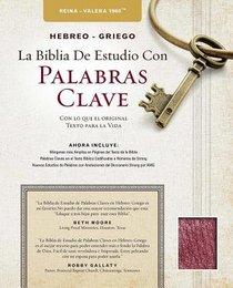 Rvr Hebreo-Griego La Biblia De Estudio Con Palabras Clave Burgundy (Hebrew-greek Key Word Study Bible)