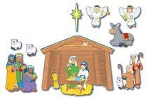 Bulletin Board Set: Nativity Prek-Grade5 / Ages 4-11 (15 Pieces)