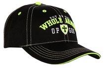 Mens Cap: Whole Armor of God, Black/Lime/White