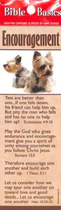 Encouragement , Cute Puppies, Various Scriptures (10 Pack) (Bible Basics Bookmark Series)