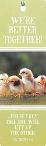Tassel Bookmark: Were Better Together (Cute Baby Chickens)