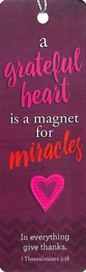 Bookmark With Tassel: Magnet For Miracles