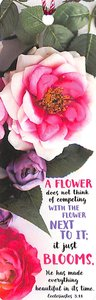 Tassel Bookmark: A Flower Does Not Think of Competing