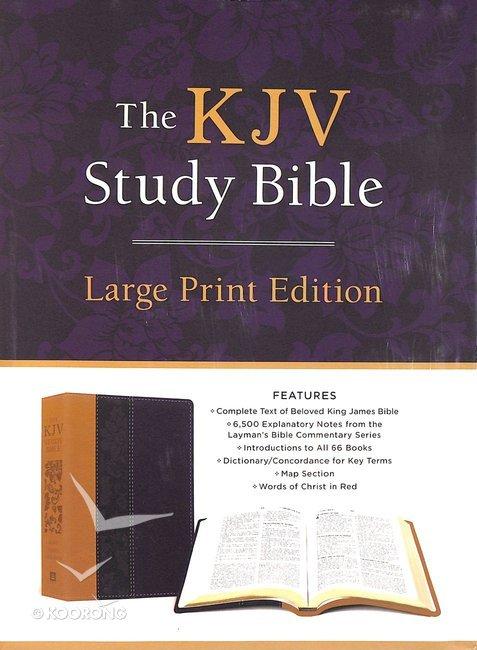 KJV Study Bible Large Print Violet Floret (Red Letter Edition)