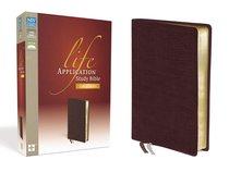 NIV Life Application Study Bible Large Print Burgundy (Red Letter Edition)
