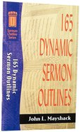 Sos: 165 Dynamic Sermon Outlines (Sermon Outline Series)