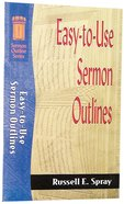 Sos: Easy to Use Sermon Outlines (Sermon Outline Series)