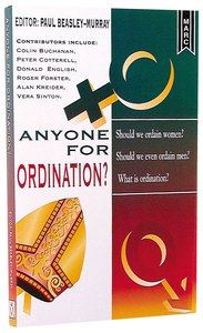 Anyone For Ordination?
